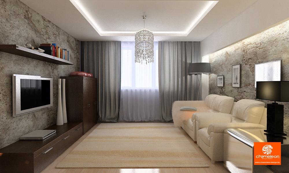 Дизайн зала 12 кв м квартире